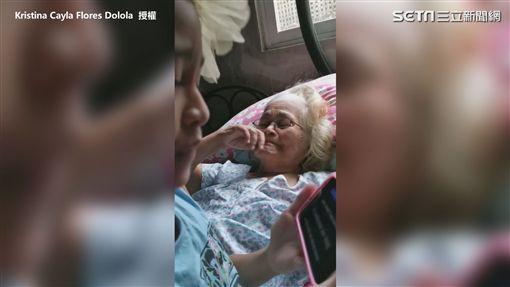 ▲奶奶過程中頻頻感動落淚。(圖/Kristina Cayla Flores Dolola 授權)