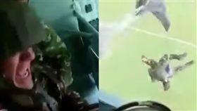 跳傘,俄羅斯,軍校,學院,當兵,特殊兵,打靶,扔出,精神,緊繃 圖/翻攝自YouTube