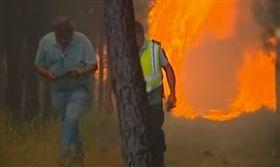 葡萄牙,里斯本,野火,消防員,重傷