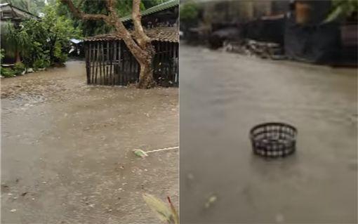 台北,新北,豪雨,淹水,五股,社子(圖/翻攝照片)