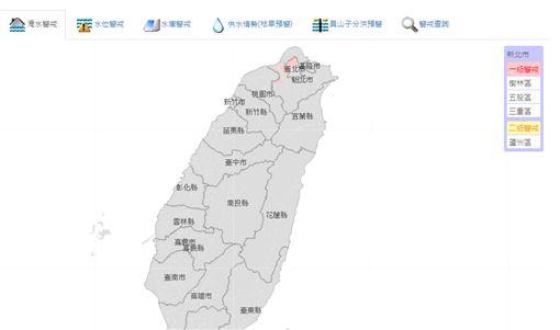 台北,新北,豪雨,淹水,五股,社子(圖/取自經濟部水利署)