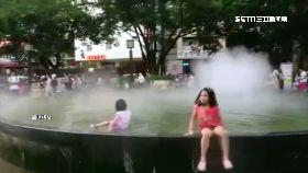 C噴泉當泳池1500.