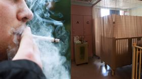 母子倆病房內驚聞煙味…轉頭一看「病患家屬在抽菸」:心已經夠累了(圖/爆怨公社)
