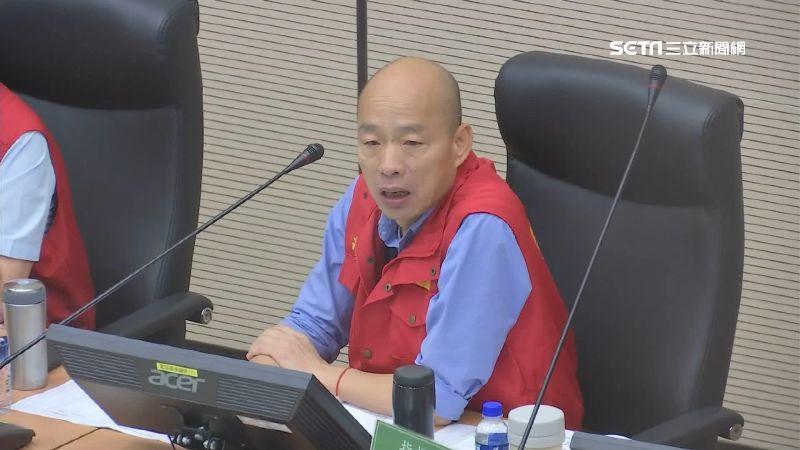 韓國瑜高雄暴雨神隱20小時 議員發5百份煎餅「祭品文」