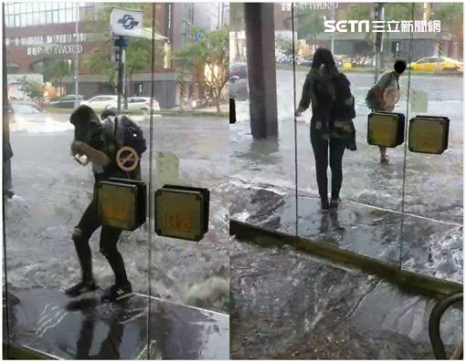 台北,豪雨,積水,忠孝東路,敦化南路