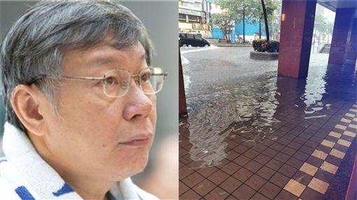 台北市,淹水,柯文哲(圖/台北市政府提供;陳為民臉書)