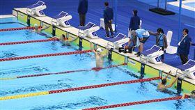 ▲孫楊獲得雅加達亞運200公尺自由式金牌。(圖/記者蕭保祥攝)