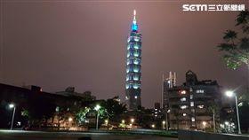 台北,101大樓,墜樓,吊籠,施工,吊掛作業(圖/記者陳怡靜攝)
