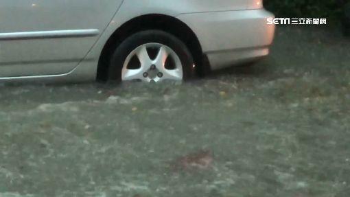 高雄淹水瑪莎拉蒂車牌噴了 網友:目屎咧滴