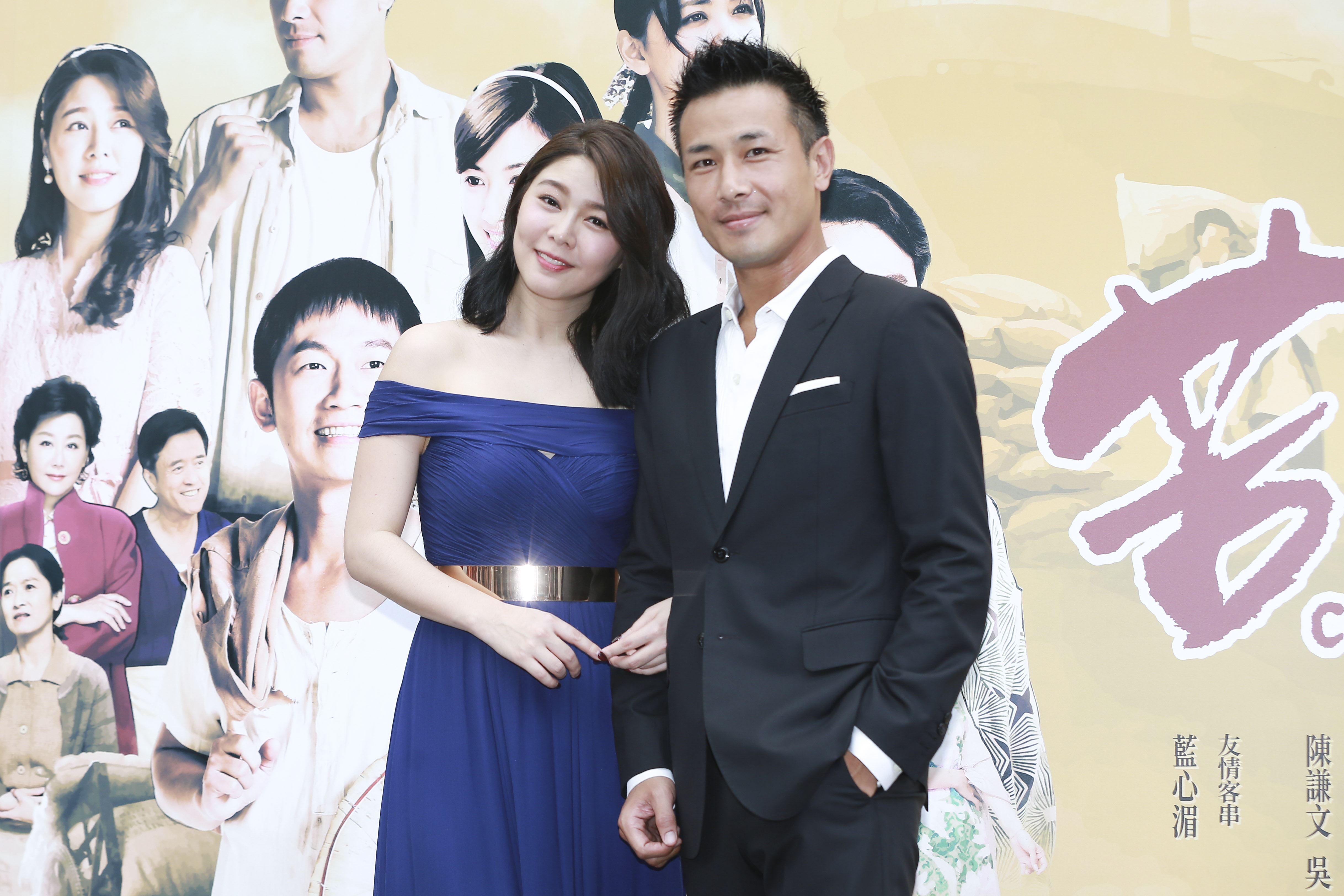 公視時代生活劇《苦力》首映記者會主演傅子純、白家綺。(記者林士傑/攝影)