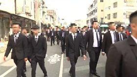 天道盟大老李文展告別式 警嚴陣以待 黑道,幫派,黑衣人,西裝
