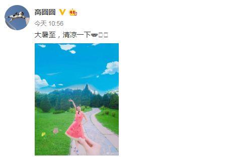高圓圓產後首露面 圖/微博