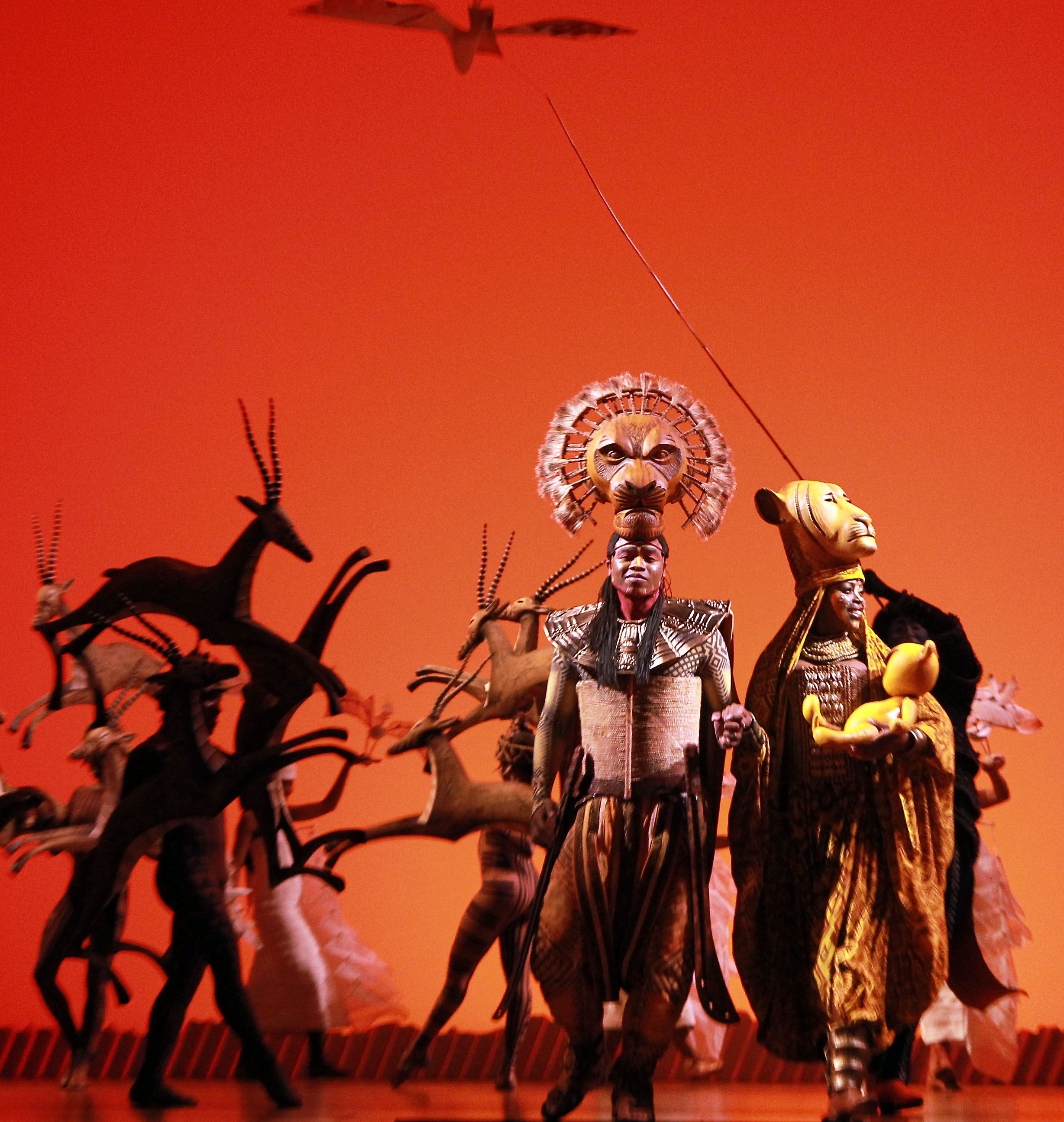 睽違11年真人版「獅子王」音樂劇再度台北小巨蛋盛大演出19場,是全球最受歡迎的音樂劇之一。(記者邱榮吉/攝影)