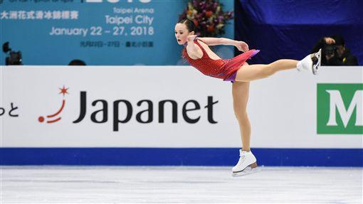 四大洲花式滑冰錦標賽女子長曲美國選手Mariah Bell。 圖/記者林敬旻攝