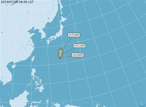 遊日注意!第6號颱風「百合」最快今夜生成 估朝日本前進圖/翻攝自中央氣象局