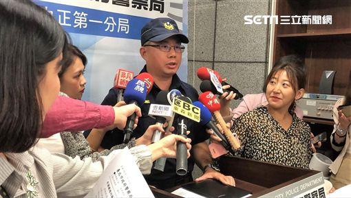 台北市中正一分局督察組長王致傑說明案情(楊忠翰攝)