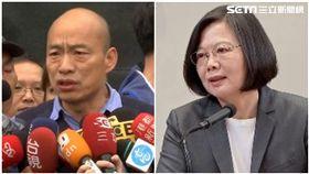 蔡英文、韓國瑜,2020,組合圖,新聞台資料照