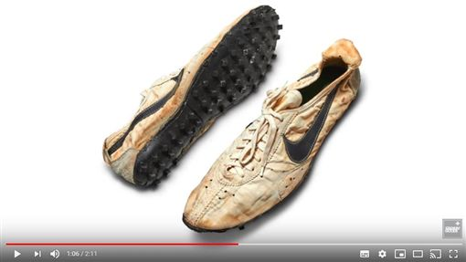 ▲Nike經典『月球鞋』拍賣價1360萬。(圖/翻攝自Stadium Goods YouTube)