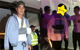 任達華被刺後,微博上傳說有男星因此堅持要穿上「防刺服」才肯出席活動。翻攝微博