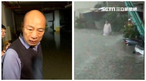 ▲韓國瑜、淹水災民(組合圖,資料畫面)