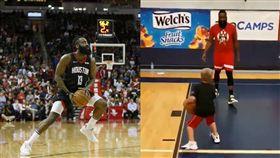NBA/小朋友「雙重後撤步」吃哈登 NBA,休士頓火箭,James Harden,雙重後撤步 翻攝自推特