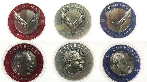 ▲Corvette C8紀念幣。(圖/翻攝網站)