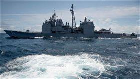 美國軍艦。(圖/翻攝自USS ANTIETAM FB)