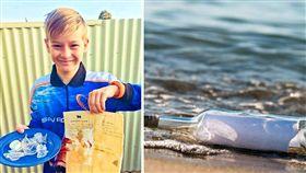 「瓶中信」是一種通信的形式,不少民眾都曾有扔「瓶中信」到海中的經驗。澳洲一名漁民艾略特(Elliot),日前帶兒子釣魚時,意外撿到一只瓶中信,結果裡面的信是來自50年前的一名13歲英國男孩保羅(Paul)寫的。(圖/翻攝自推特)