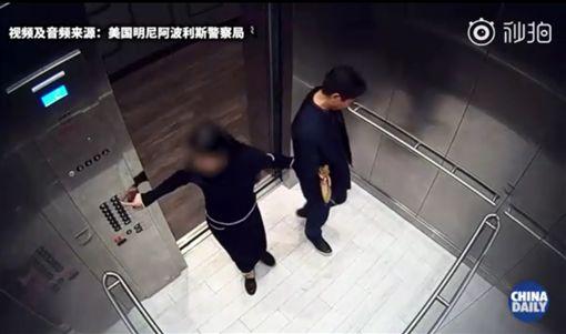 「京東集團」千億CEO劉強東涉嫌性侵/監視器畫面/翻攝微博