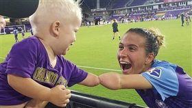 足球,佛羅里達州,奧蘭多,短指黏連,手掌。(圖/翻攝自推特)