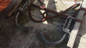 台北市消防局訓練中心驚傳墜樓意外,劉姓消防員從6公尺高處墜落 ,造成右手腕及大腿骨折送醫(翻攝畫面)