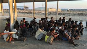 移民船,利比亞外海,翻覆(圖/美聯社/達志影像)
