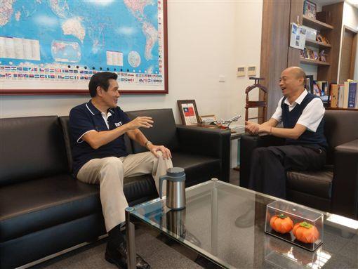 高雄市長韓國瑜27日下午拜會前總統馬英九。(圖/馬辦提供)