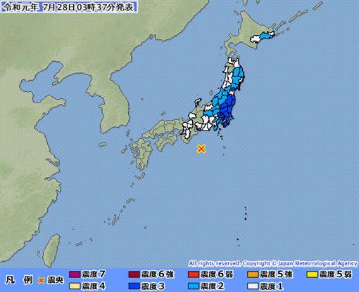 日本,地震,無海嘯威脅