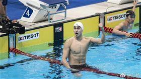 中國泳將孫楊。(圖/翻攝自孫楊個人微博)