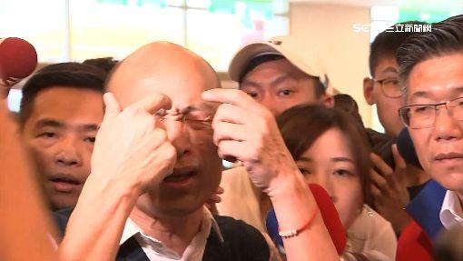 不滿媒體閃光燈!韓國瑜怒:奇怪ㄟ 眼睛不舒服