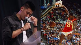 NBA/豪被放棄…名人堂球星出馬! NBA,林書豪,亞特蘭大老鷹,名人堂,Dominique Wilkins,人類精華影片 翻攝自推特