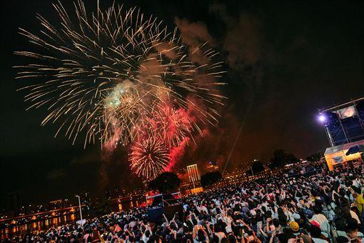 台北市,情人節,交通管制,放煙火,秩序