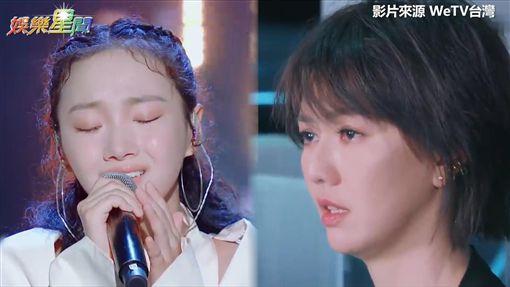 Veegee演唱惹哭孫燕姿。(圖/翻攝自WeTV台灣)