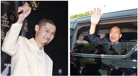 ▲金曲歌王Leo王、韓國瑜(組合圖,資料畫面)