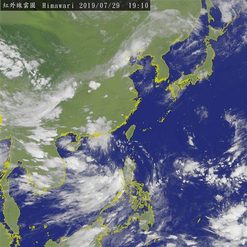 8月入颱風旺季!周四起水氣直撲台灣(圖/氣象局)