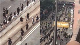 感動漏網鏡頭!地鐵遭停駛 香港人圍2公里人龍送物資(圖/翻攝自徐嘉裕 - Neil hsu臉書)