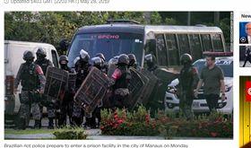 巴西監獄暴動 至少52人犯死亡 圖翻攝自CNN