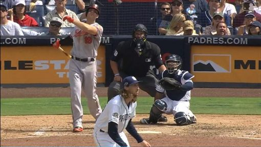 ▲戴維斯(Chris Davis)連吞3K一棒敲出超前轟。(圖/翻攝自MLB官網)