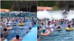 暑假到來,許多民眾為了清涼一下,都會趁著假日到水上樂園遊玩,但你知道嗎,其實遊樂園不一定安全,若是設施一不小心管理不當,後果將不堪設想。大陸吉林省的延邊朝鮮族自治龍井市有一間游樂園,暑假時吸引眾多遊客上門,但在29日時,其中一項衝浪的遊樂設施似乎因為機械故障,導致人工造浪變成海嘯,造成許多遊客受傷,其中更有人因此被沖到腿部骨折。(圖/翻攝自風視頻)
