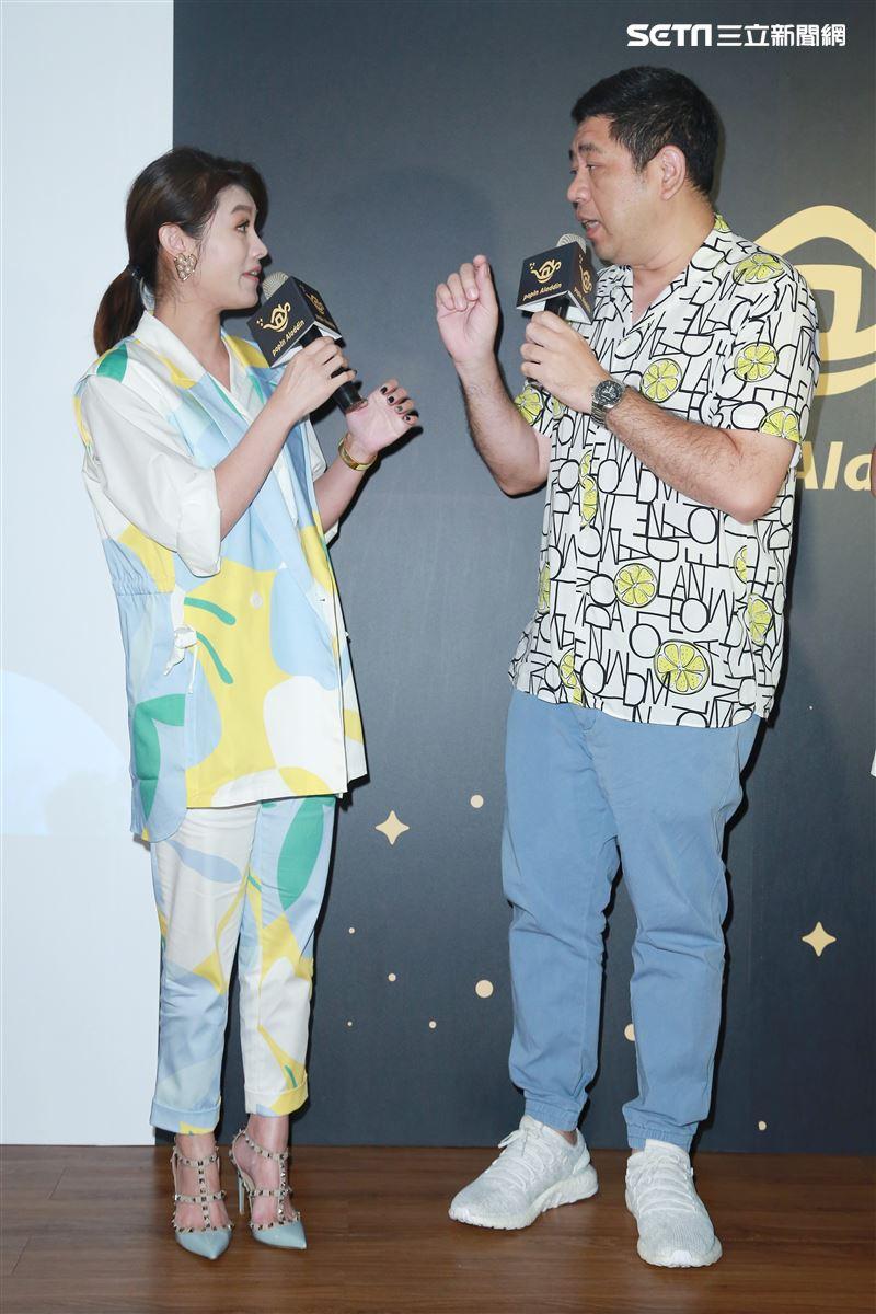 NONO與朱海君一同出席投影機品牌發表會。(圖/記者林士傑攝影)