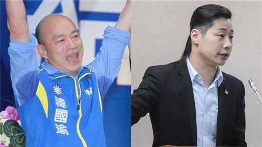 韓國瑜,林昶佐 組合圖/資料照