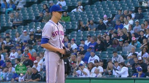 ▲狄格隆(Jacob deGrom)7月僅失4分,但才進帳2勝。(圖/翻攝自MLB官網)