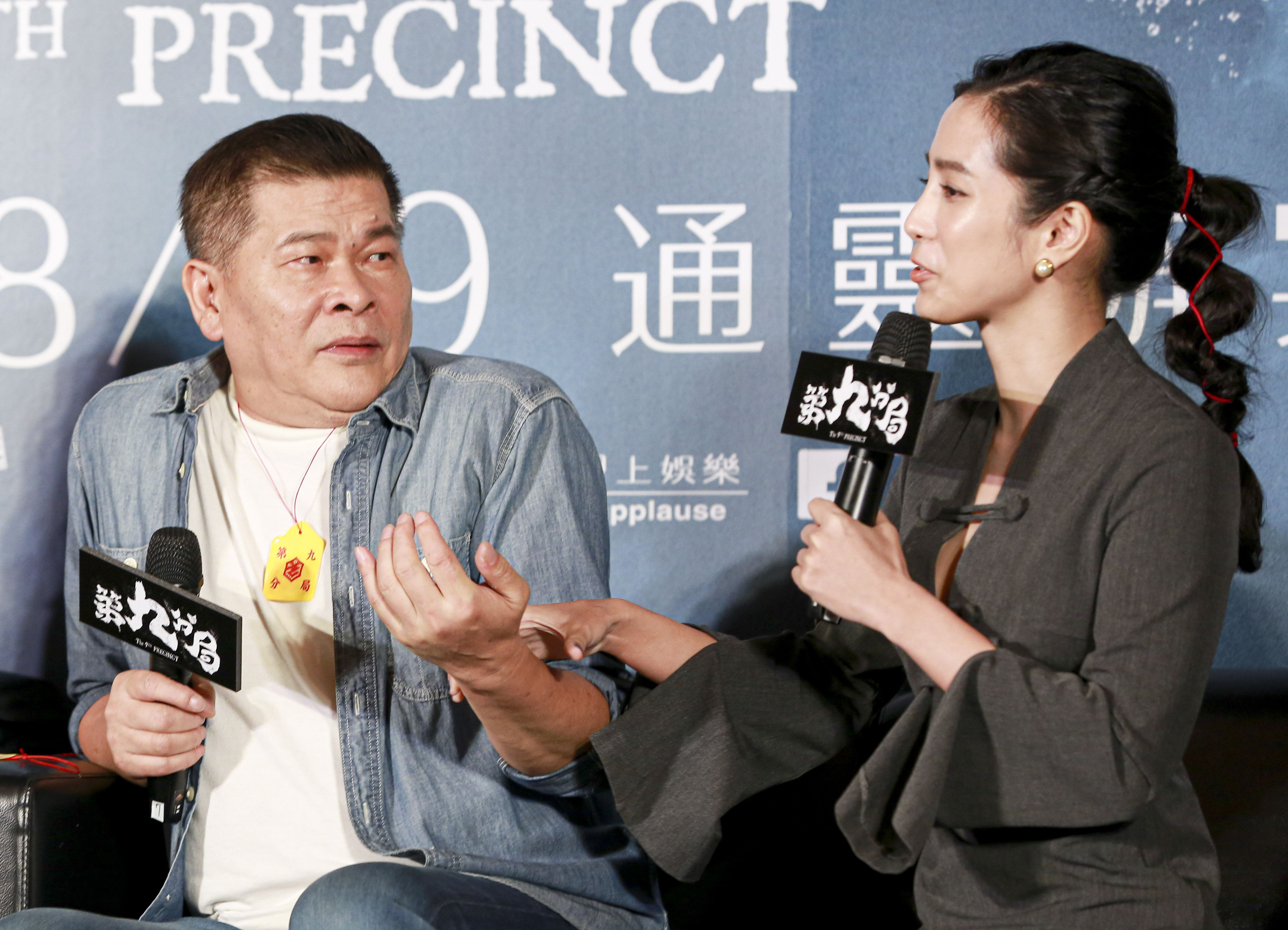《第九分局》上映記者會,主演溫貞菱、澎恰恰 。(圖/記者林士傑攝影)