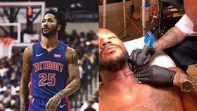 NBA/飆風玫瑰新刺青…竟刺在頸上 NBA,底特律活塞,Derrick Rose,飆風玫瑰,刺青 翻攝自推特